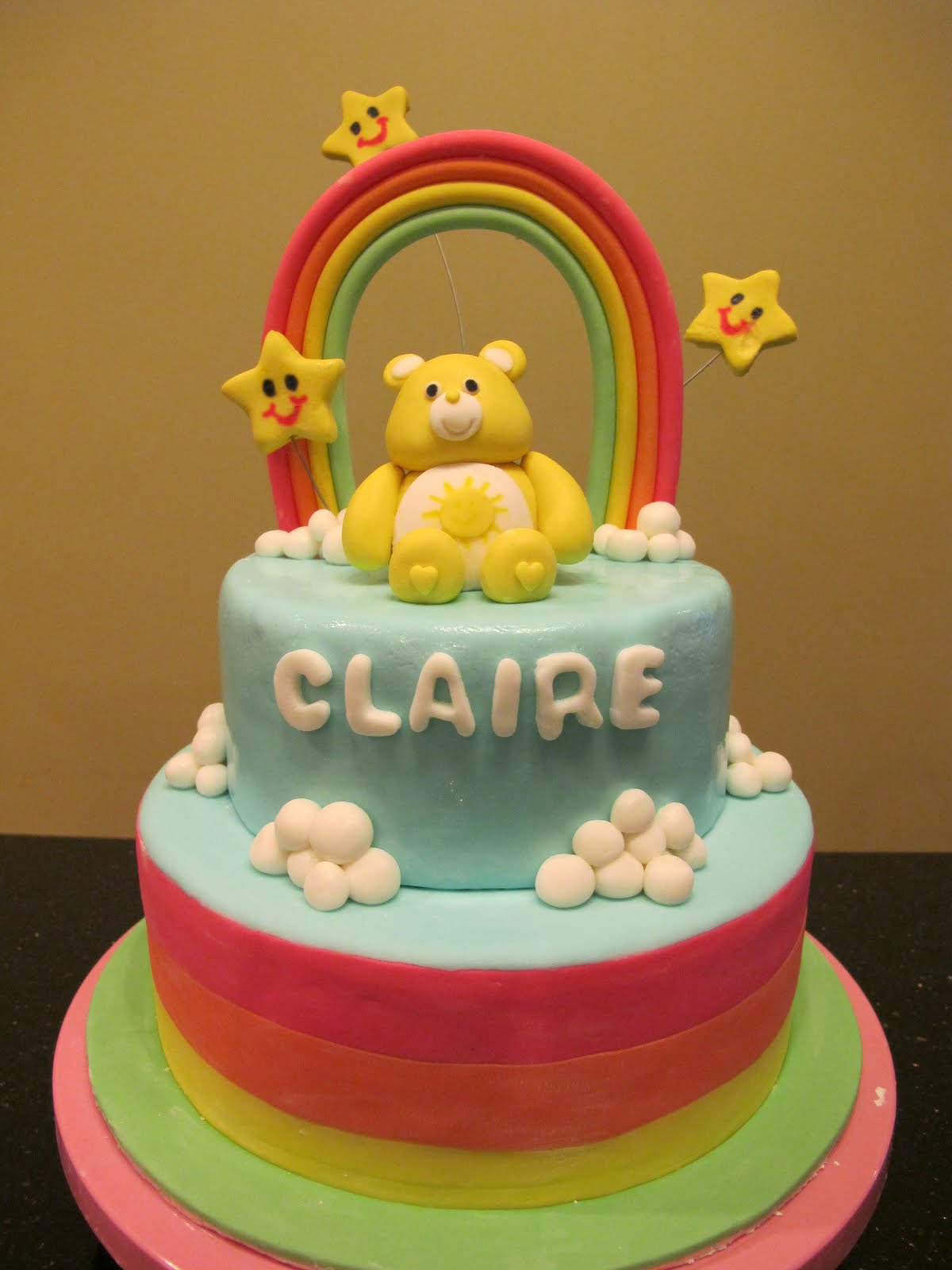 How To Make A Care Bear Cake