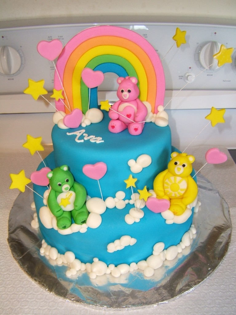Care Bear Cakes Decoration Ideas Little Birthday Cakes