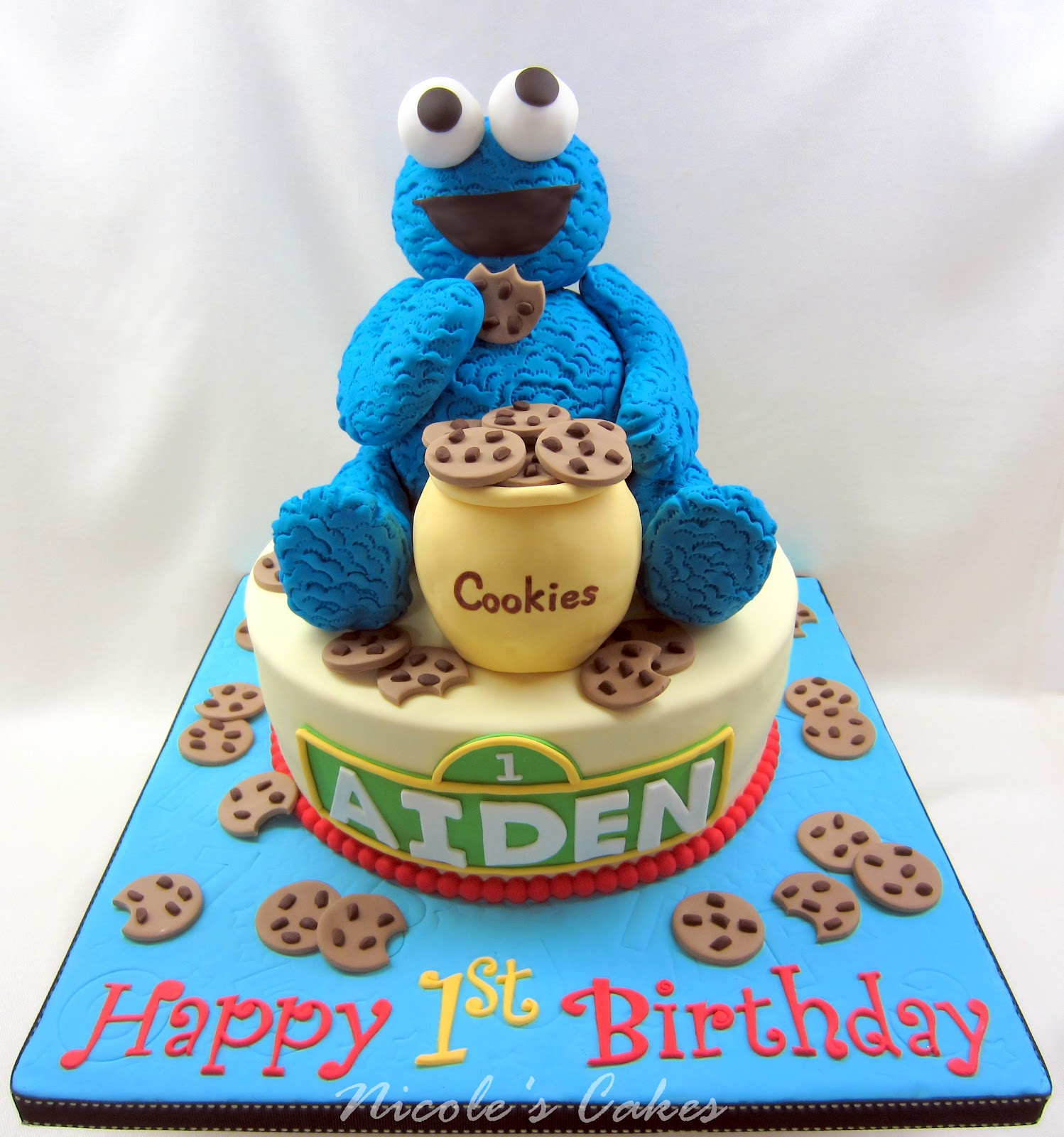 Cookie Monster Birthday Cake