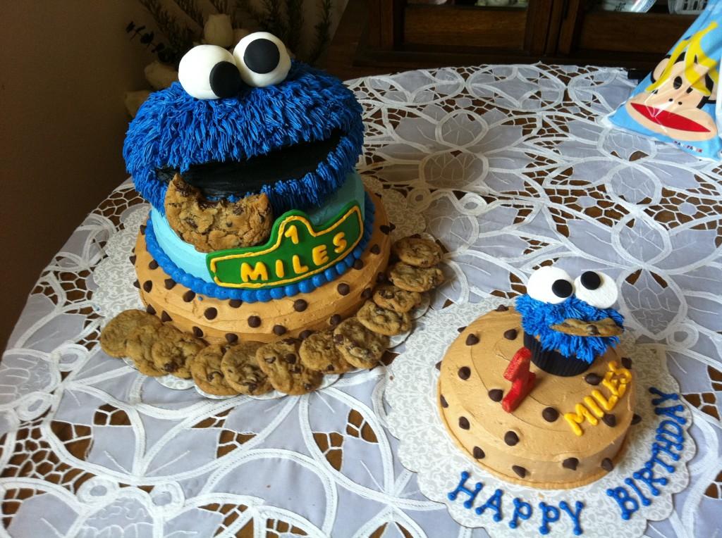 Cookie monster cakes decoration ideas little birthday cakes - Birthday cake decorations ideas ...