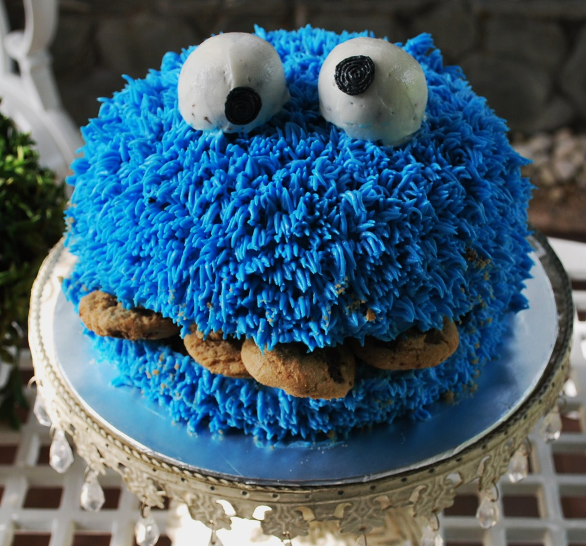 Girl Cookie Monster Cake
