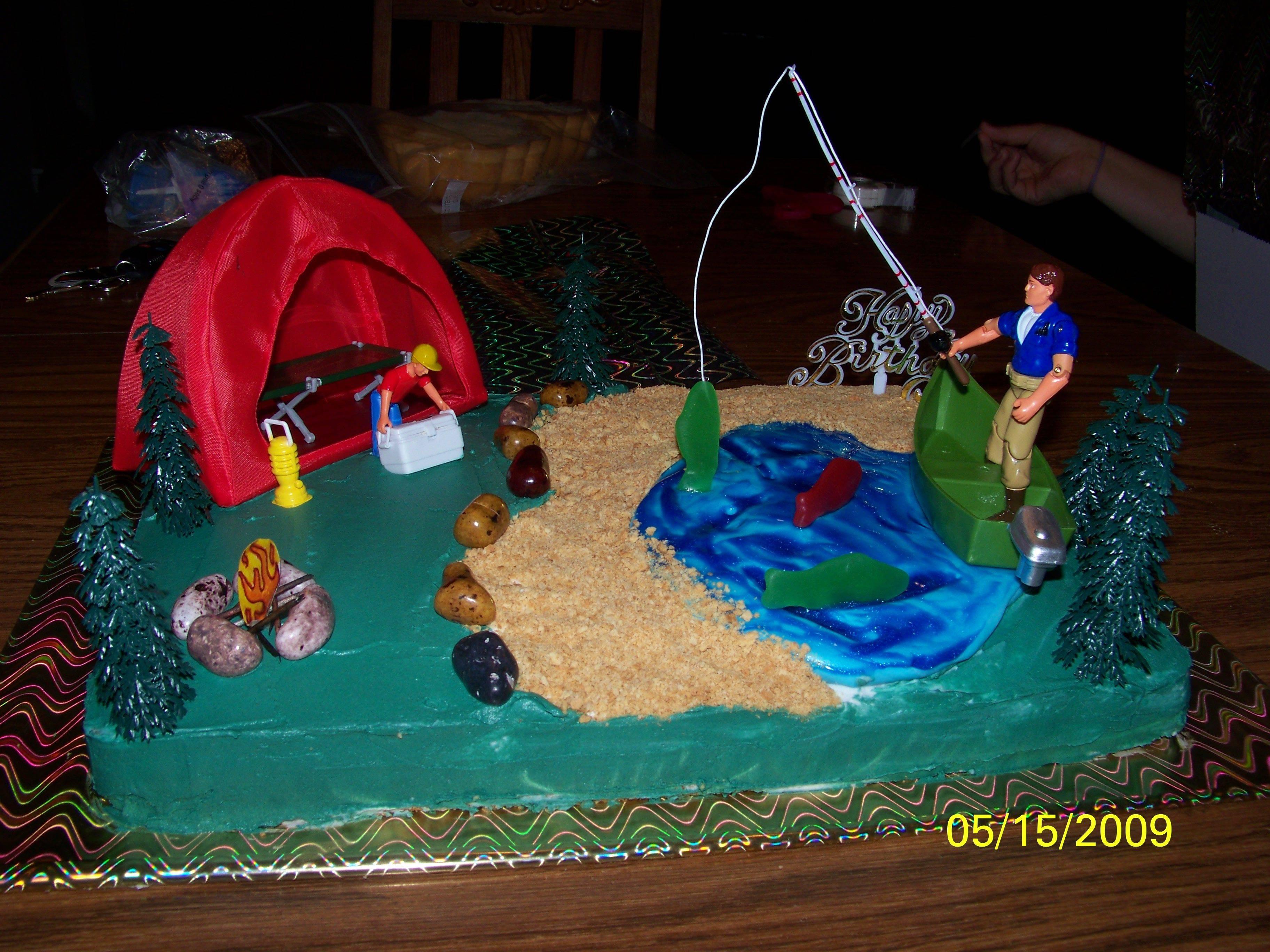 Fishing Cakes   Decoration Ideas Little Birthday Cakes