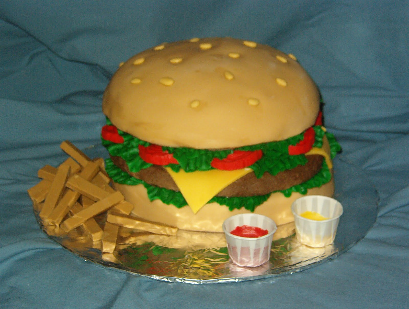 Hamburger Cake Idea Teen Birthday Cakes And Event Cake Ideas By Denise ...
