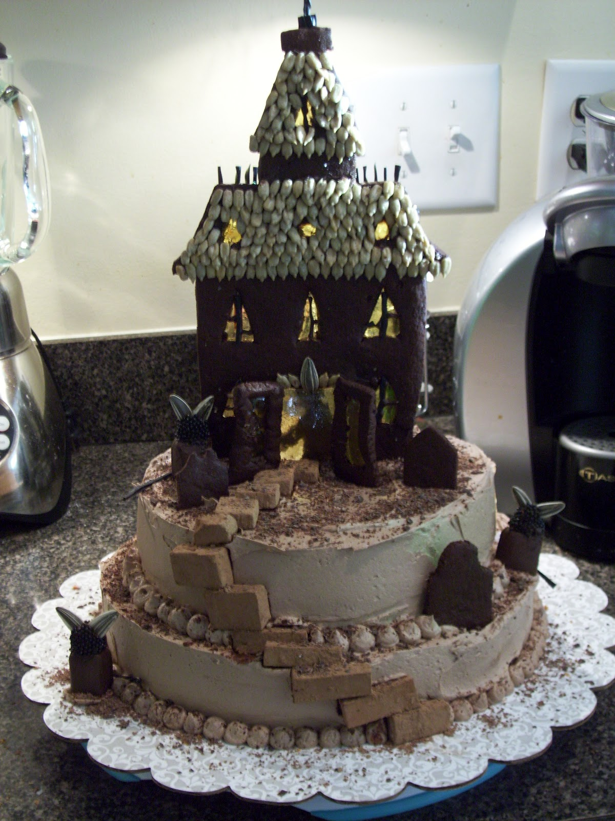 Decoration Of Cake In Home : Haunted House Cakes   Decoration Ideas Little Birthday Cakes