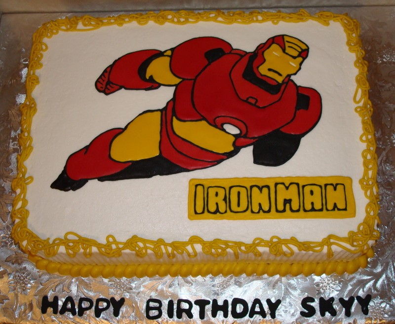 Iron Man Cake Decorations