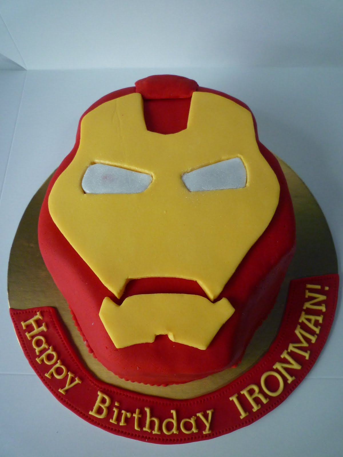 Iron Man Cake Decorations Birthday