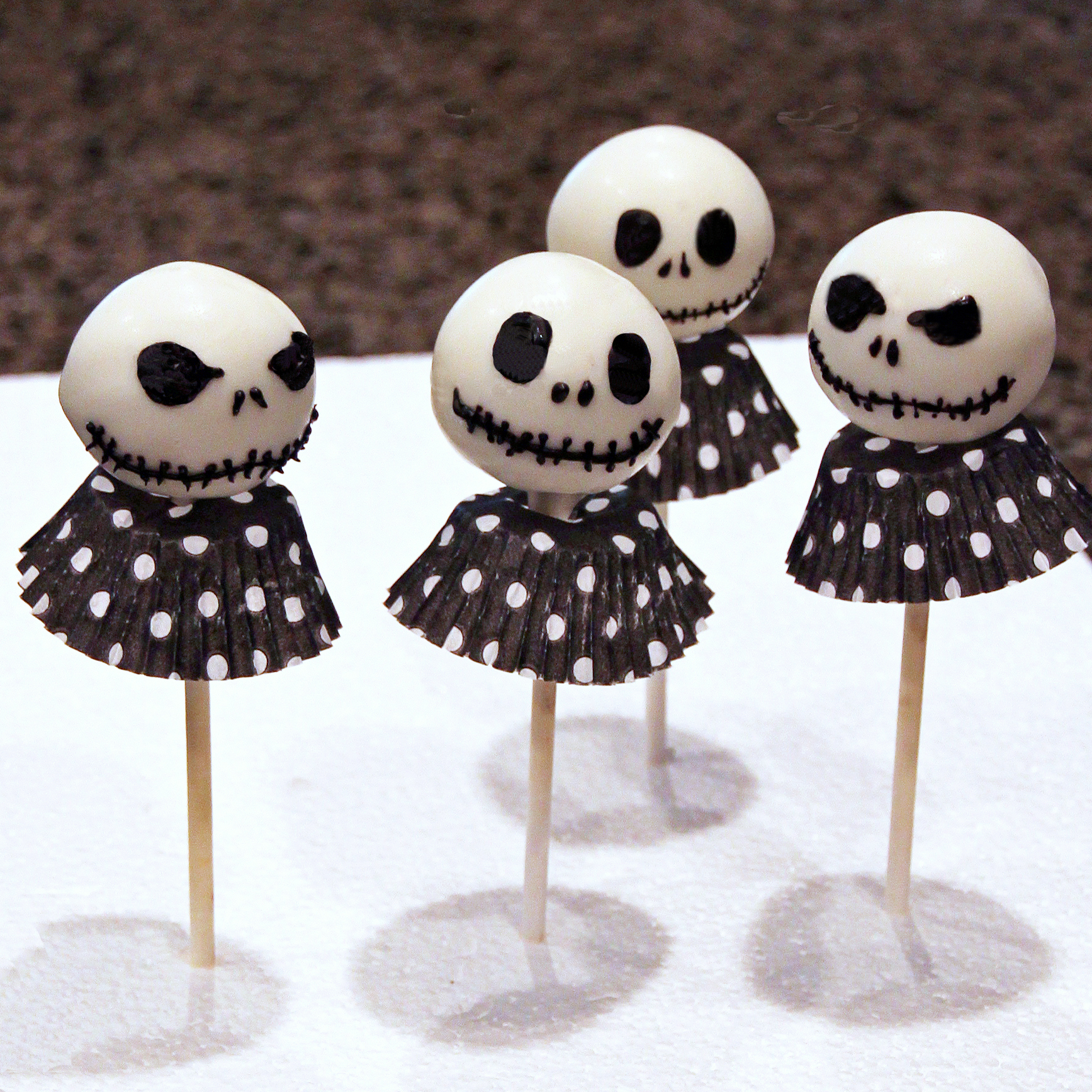 Jack Skeleton Cake Pops