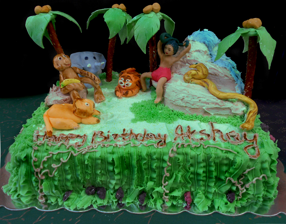 Jungle cakes decoration ideas little birthday cakes for Animals decoration