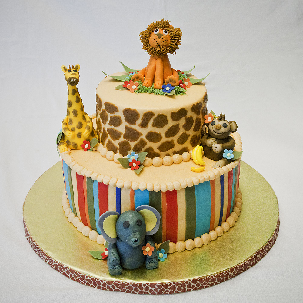 jungle themed baby shower cake ideas