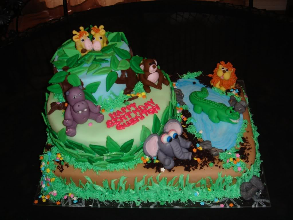 Jungle Birthday Cake Images : Jungle Cakes   Decoration Ideas Little Birthday Cakes
