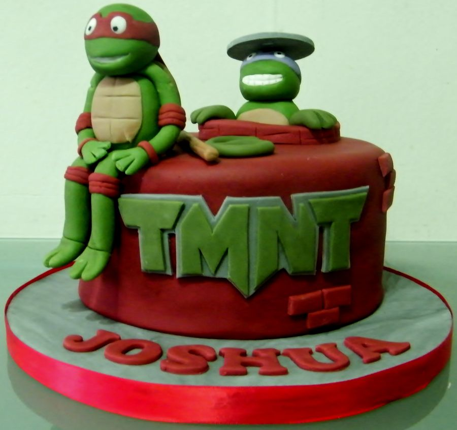 Ninja turtle cakes decoration ideas little birthday cakes for Tmnt decorations