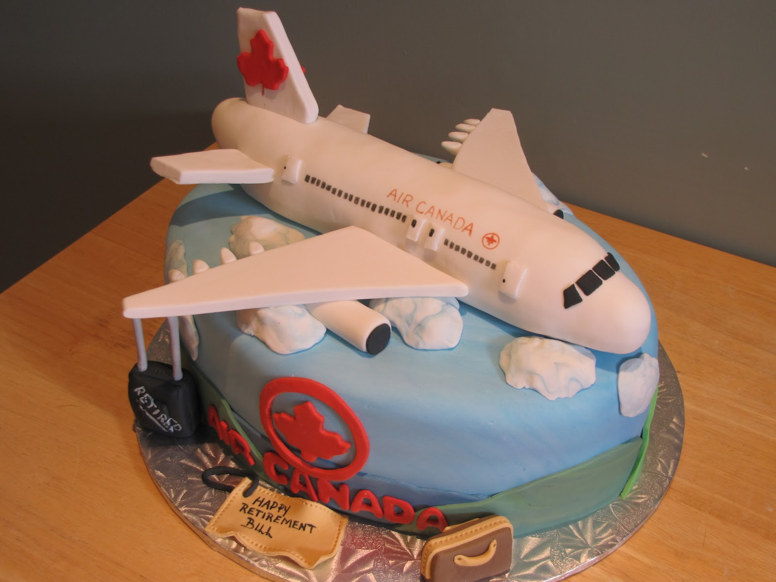 Airplane Wedding Cake
