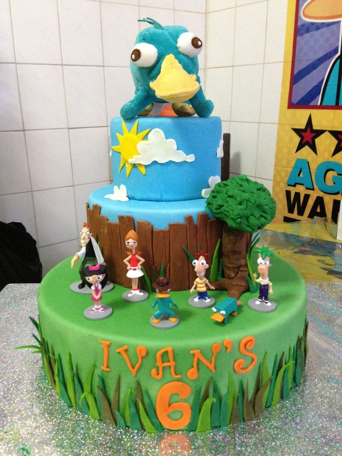 phineas and ferb cakes  u2013 decoration ideas