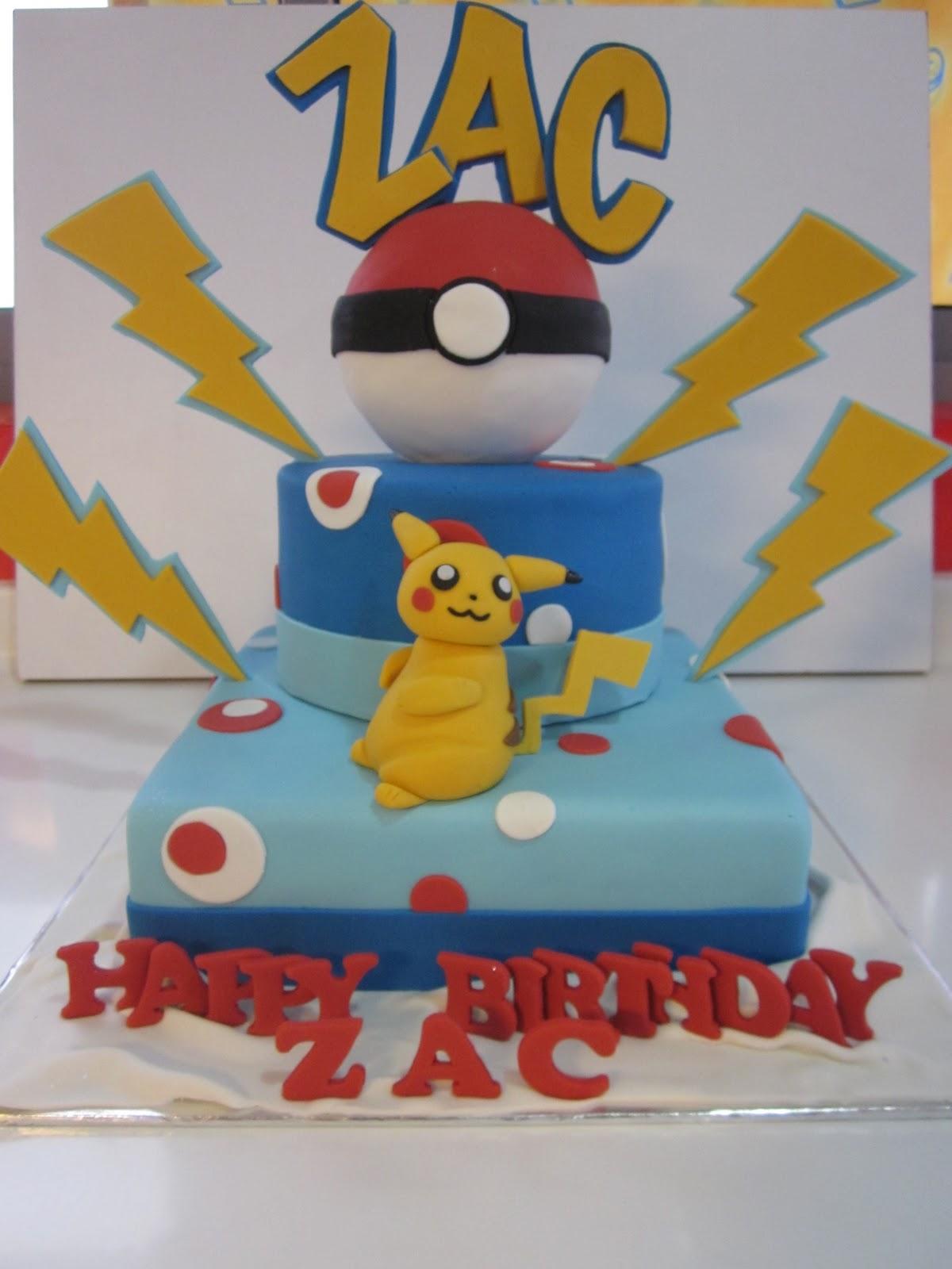 Pikachu Birthday Cake Singapore