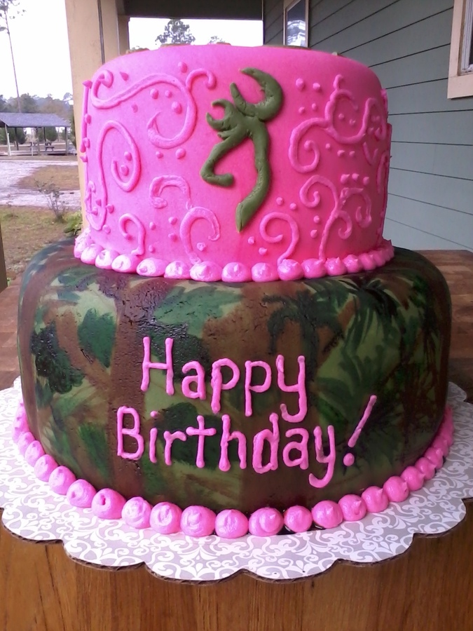 Pink Birthday Cake Decoration Ideas : Camo Cakes   Decoration Ideas Little Birthday Cakes