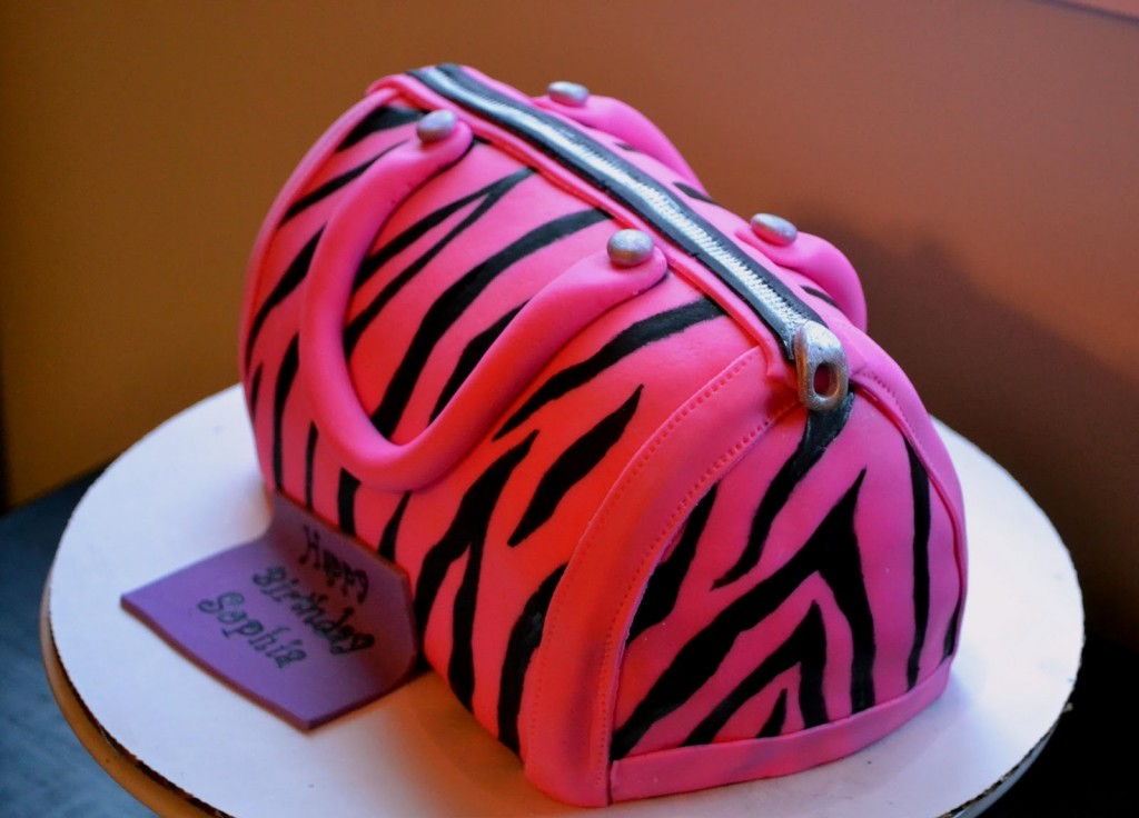 Pink And Black Zebra Stripe Birthday Cakes