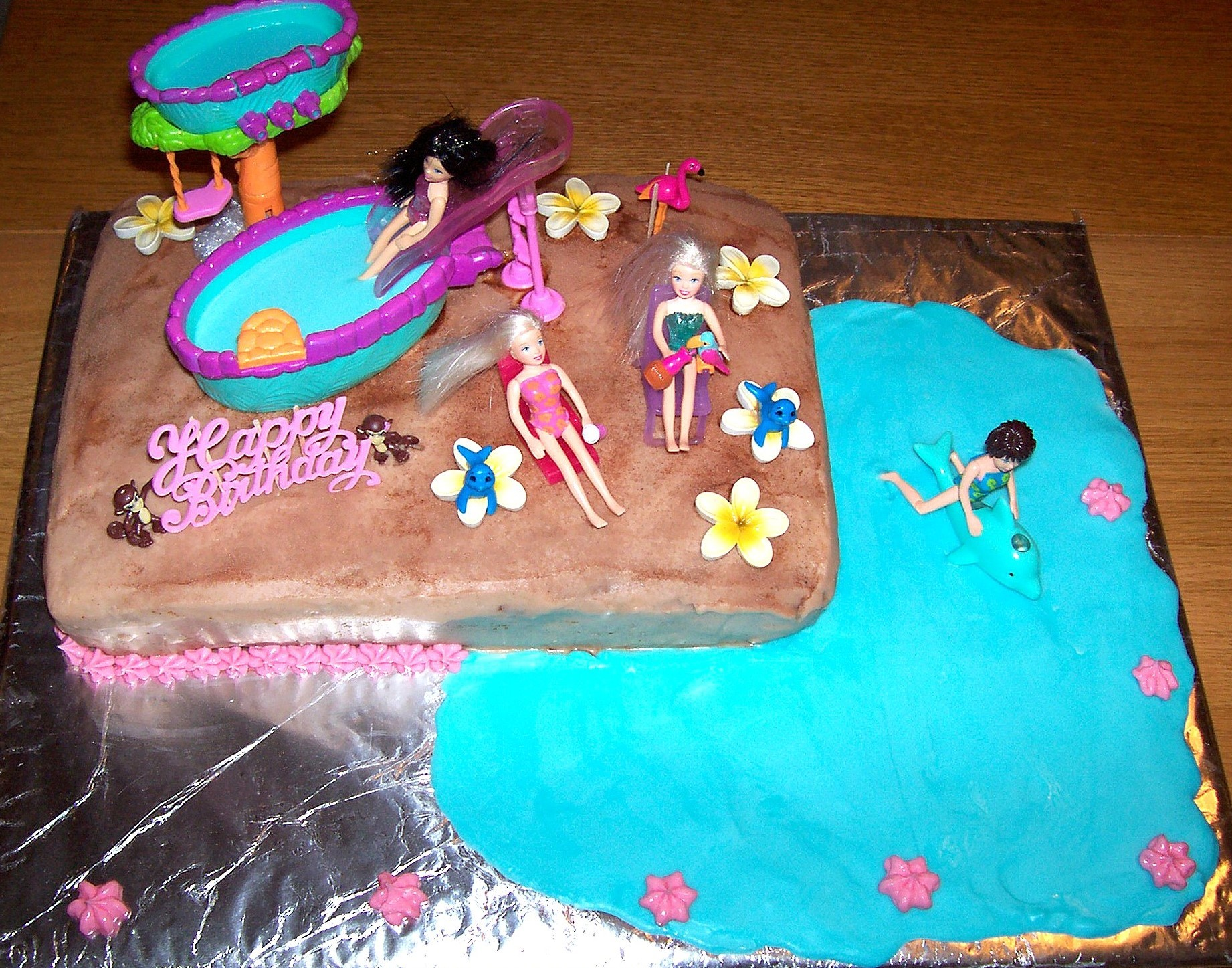 Pool Party Cakes Decoration Ideas Little Birthday Cakes