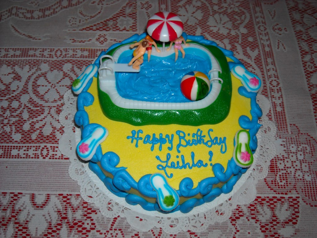 Pool Party Cake Ideas Image