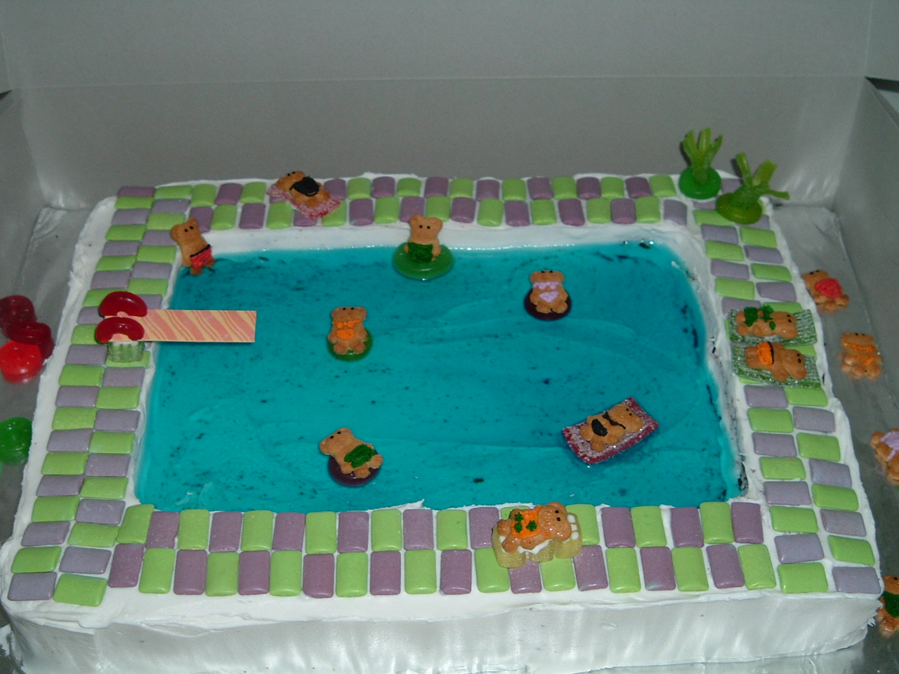 Pool Party Cake Ideas Image Pool Party Cake Photo ...