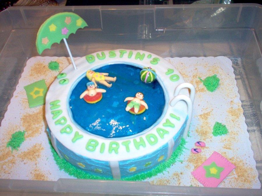Pool Party Cakes – Decoration Ideas | Little Birthday Cakes - Swimming Pool Cake Ideas