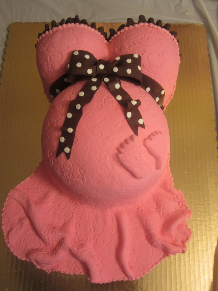 Pregnant Belly Cakes For Baby Shower