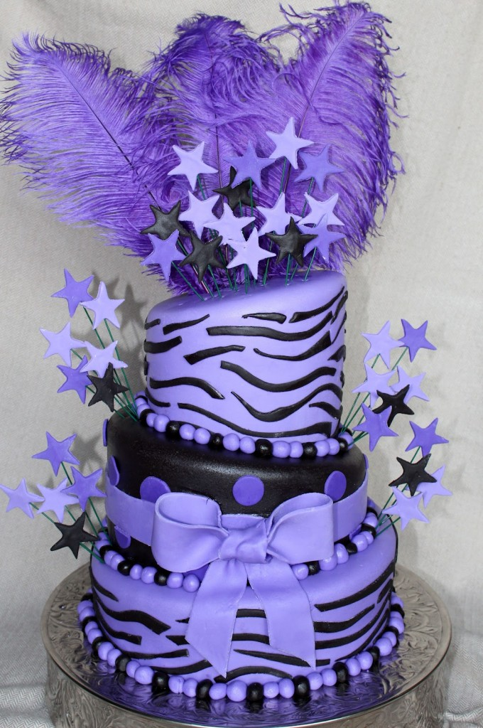 Purple Zebra Cake Design : Zebra Cakes   Decoration Ideas Little Birthday Cakes