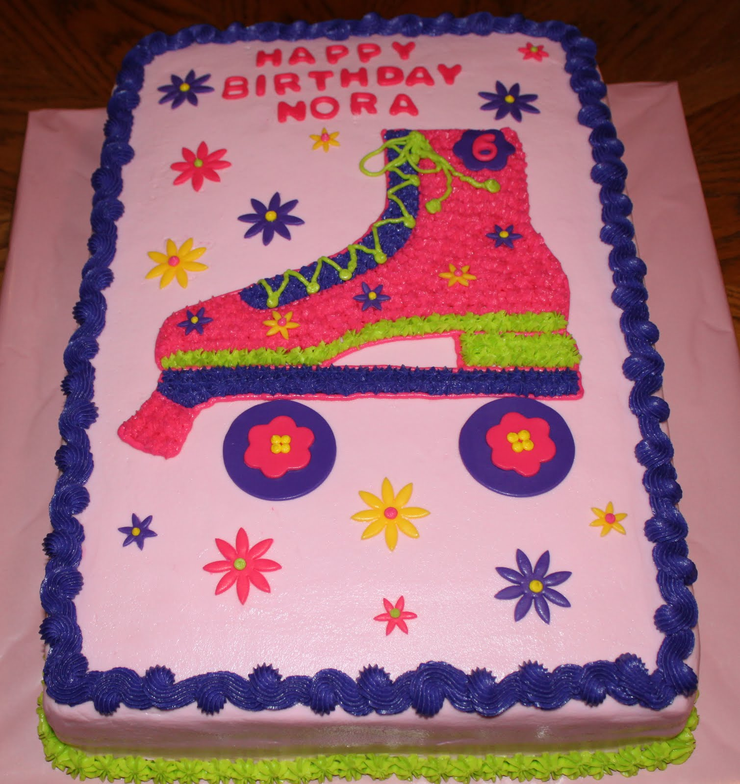 Simple Ice Skate Boot Cake