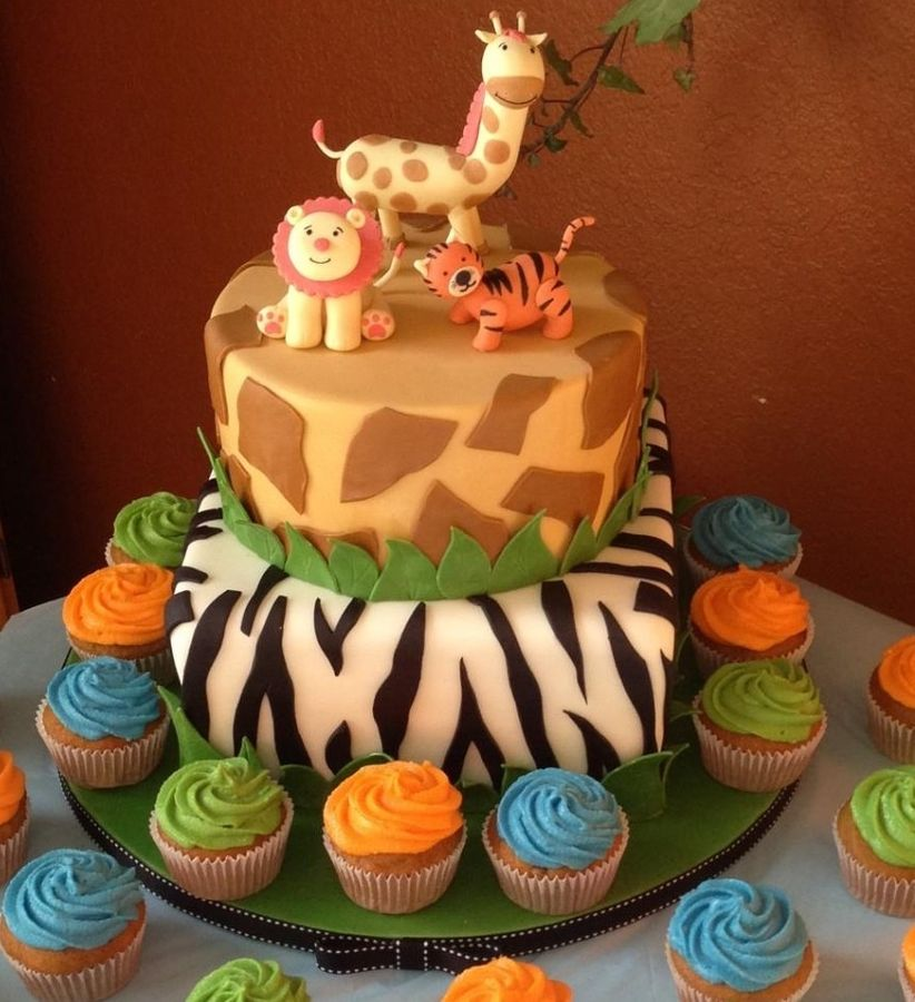 Safari Baby Shower Cakes