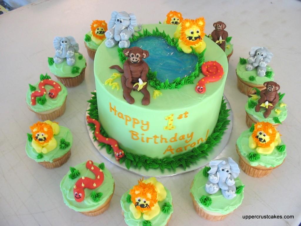 Safari cakes decoration ideas little birthday cakes for Animal cake decoration ideas
