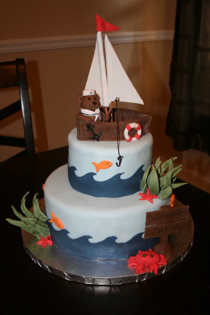Sailboat Wedding Cake