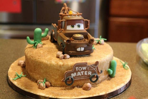 Tow Mater Birthday Cake Designs