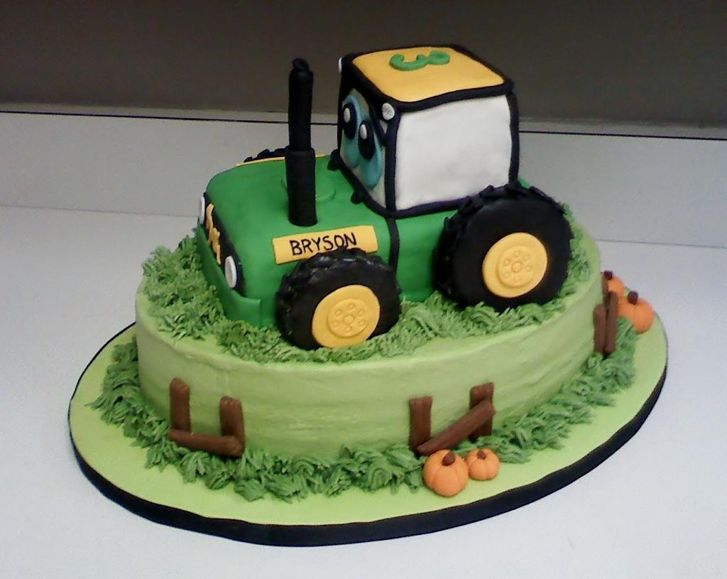 Tractor Cake Template