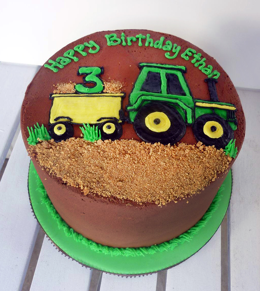 Images Of Tractor Birthday Cake : Image Gallery tractor cakes