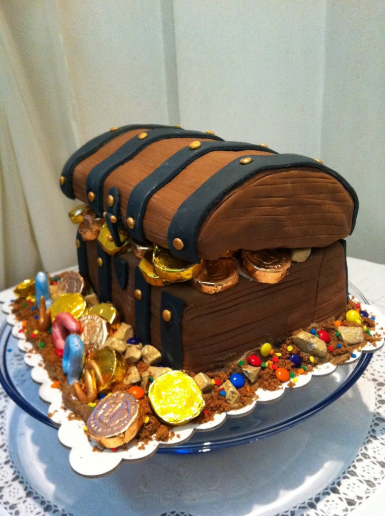 Decorating A Treasure Chest Cake