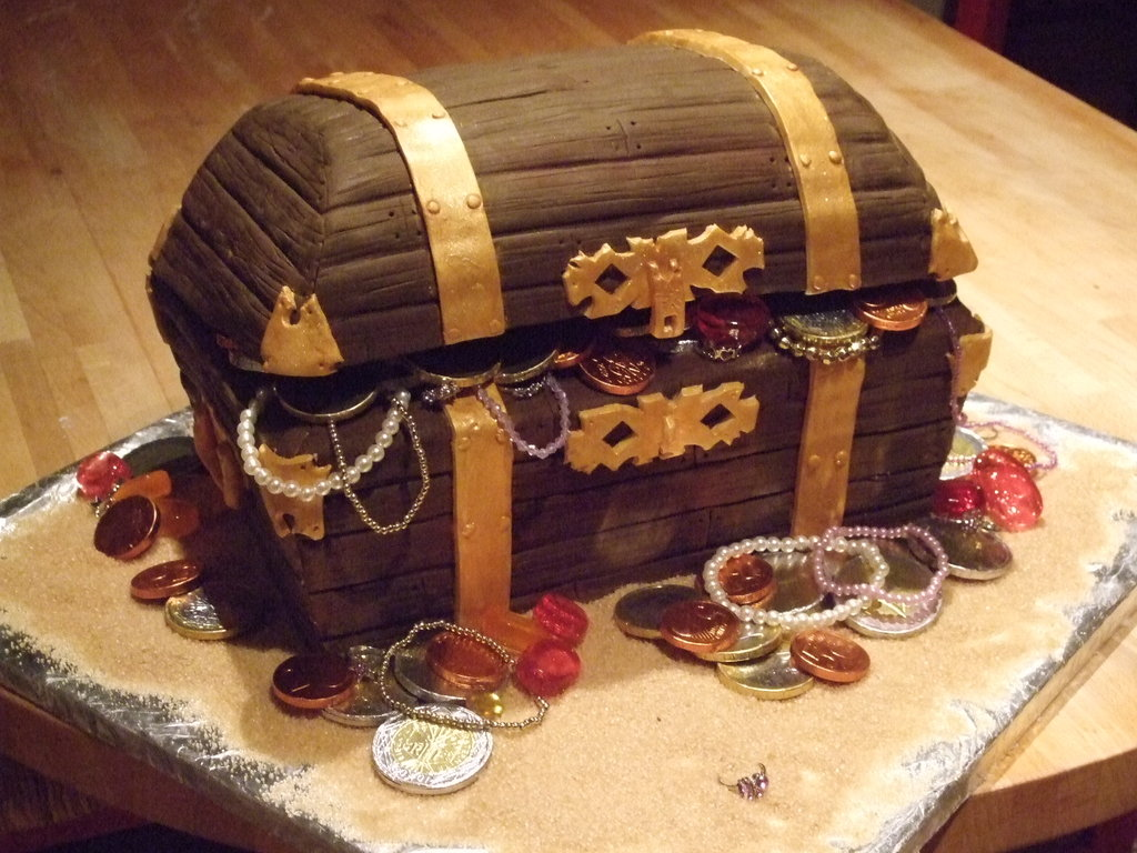How To Make A Pirate Treasure Chest Cake