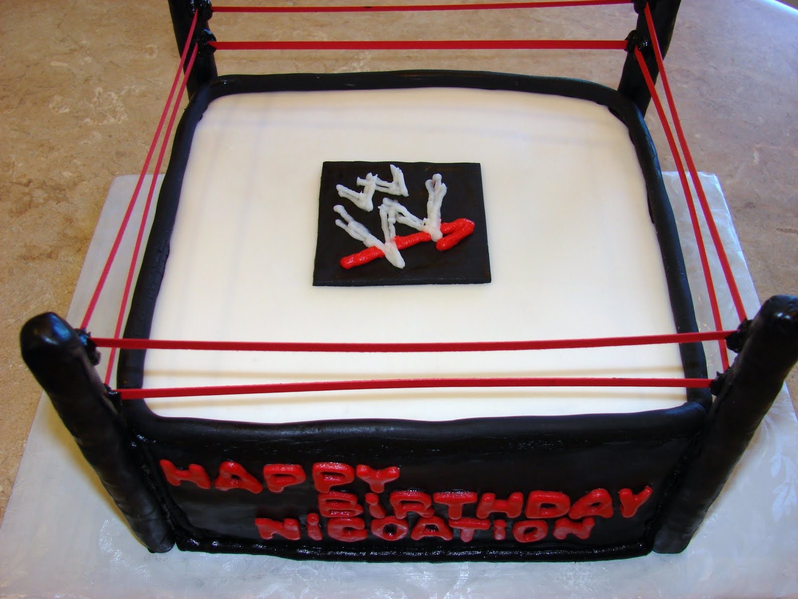 Wwf Birthday Cake