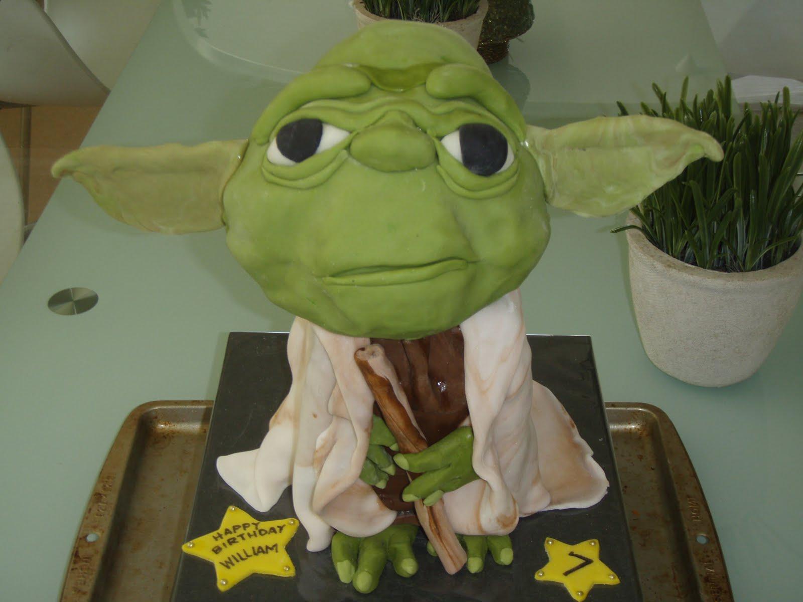 yoda birthday cake