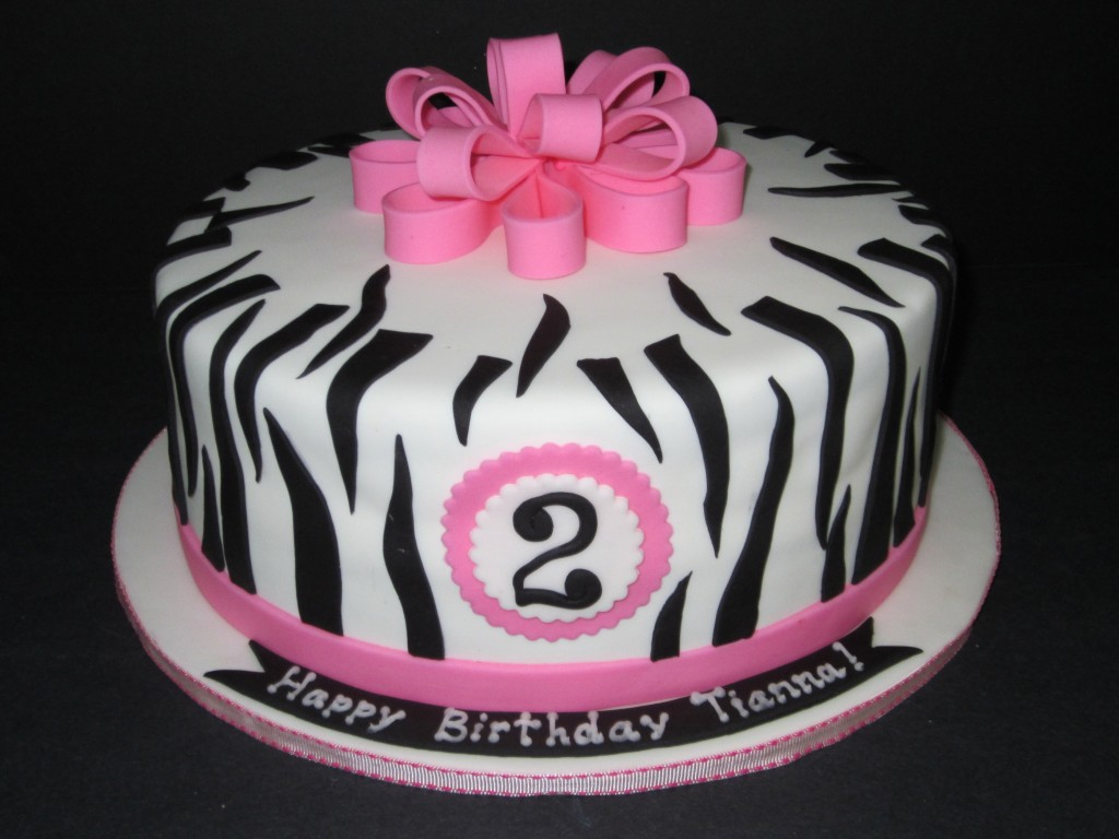 How To Make A Pink And White Zebra Cake