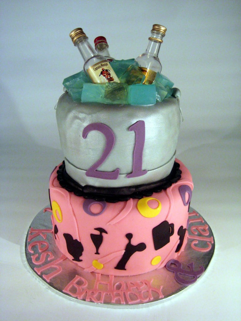 21st birthday cakes decoration ideas little birthday cakes for Anniversary cake decoration