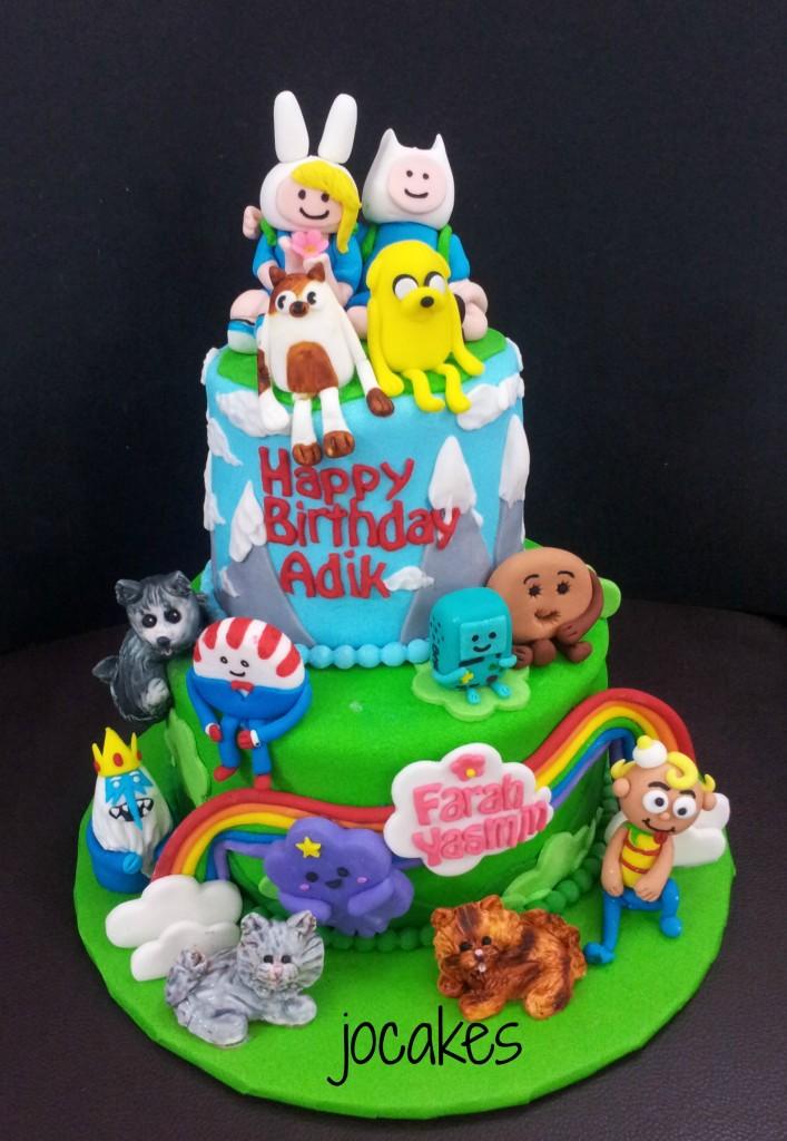 Adventure Time Birthday Cakes
