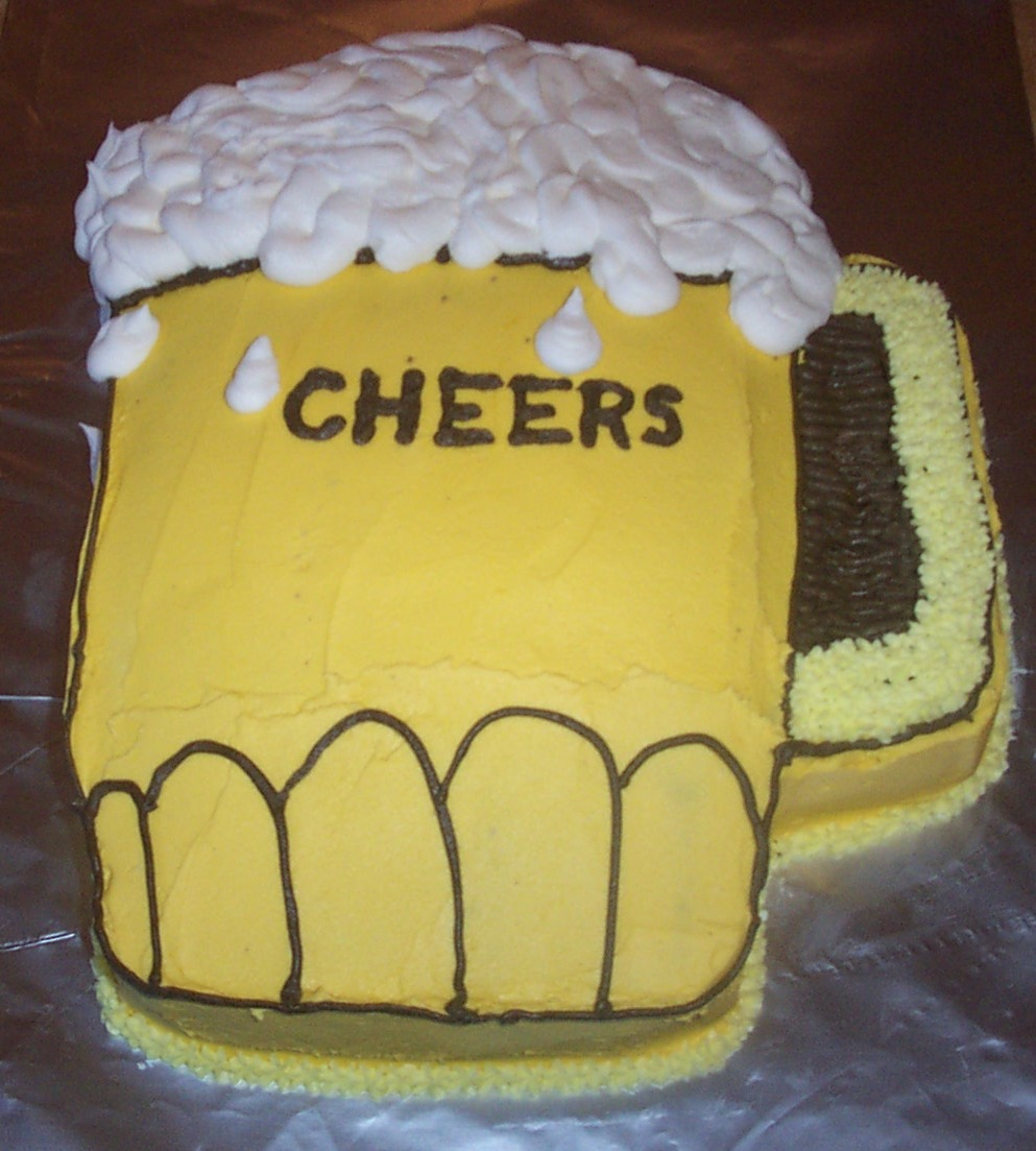 Beer Mug Cakes   Decoration Ideas Little Birthday Cakes