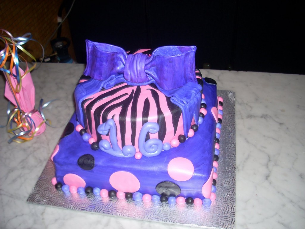 Blue Sweet 16 Cakes