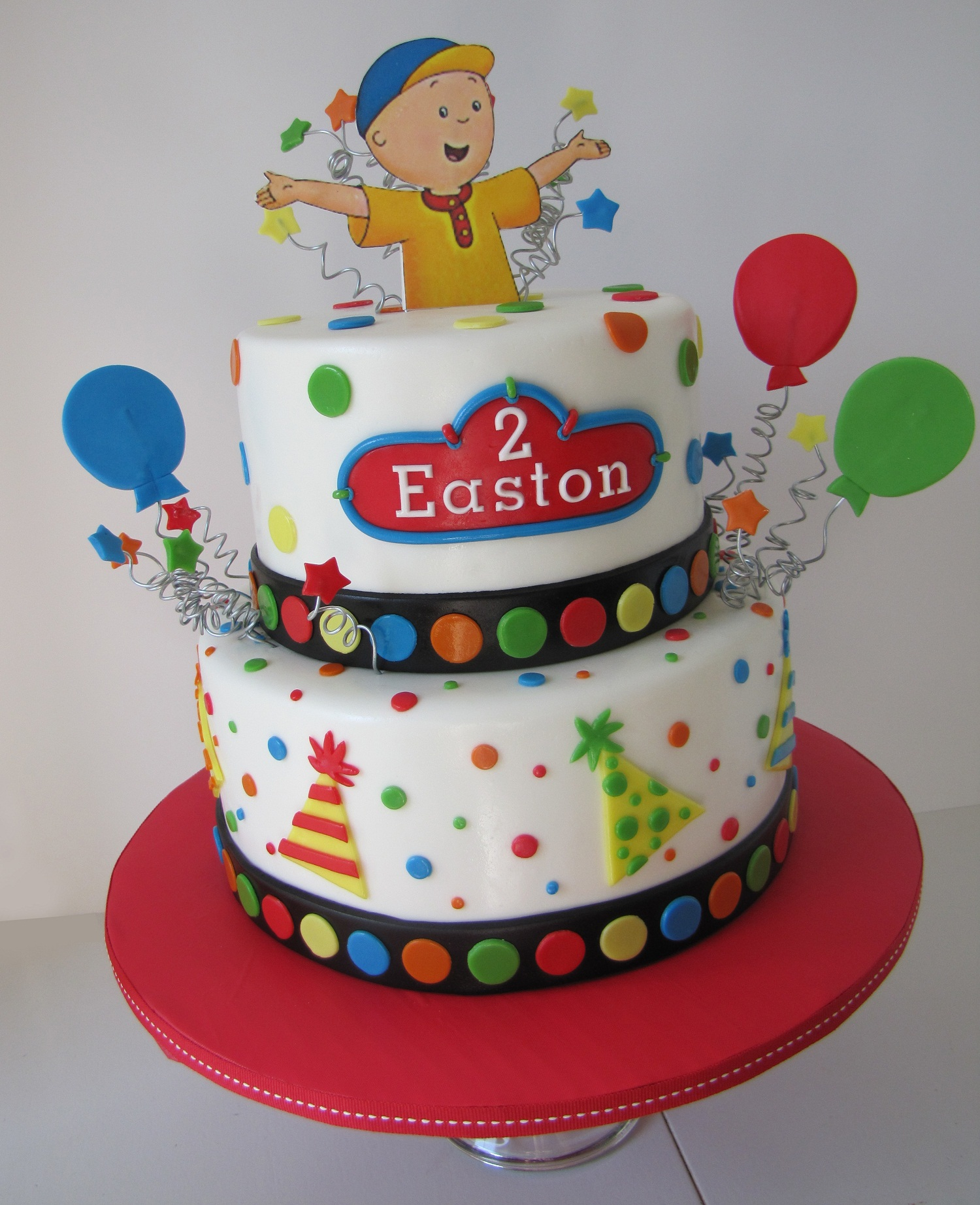 Caillou Themed Birthday Cake