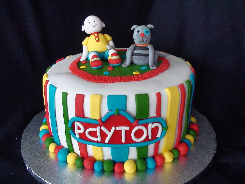 calliou birthday cake