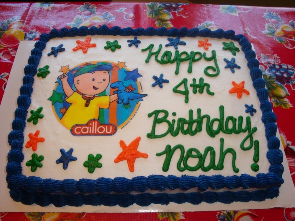 Caillou Birthday Cakes Decoration Ideas Little