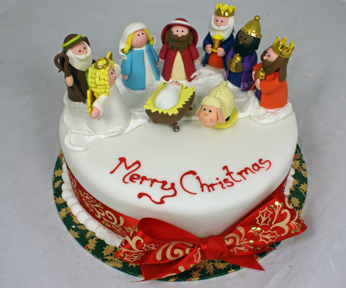 Christmas Cake Nativity Scene