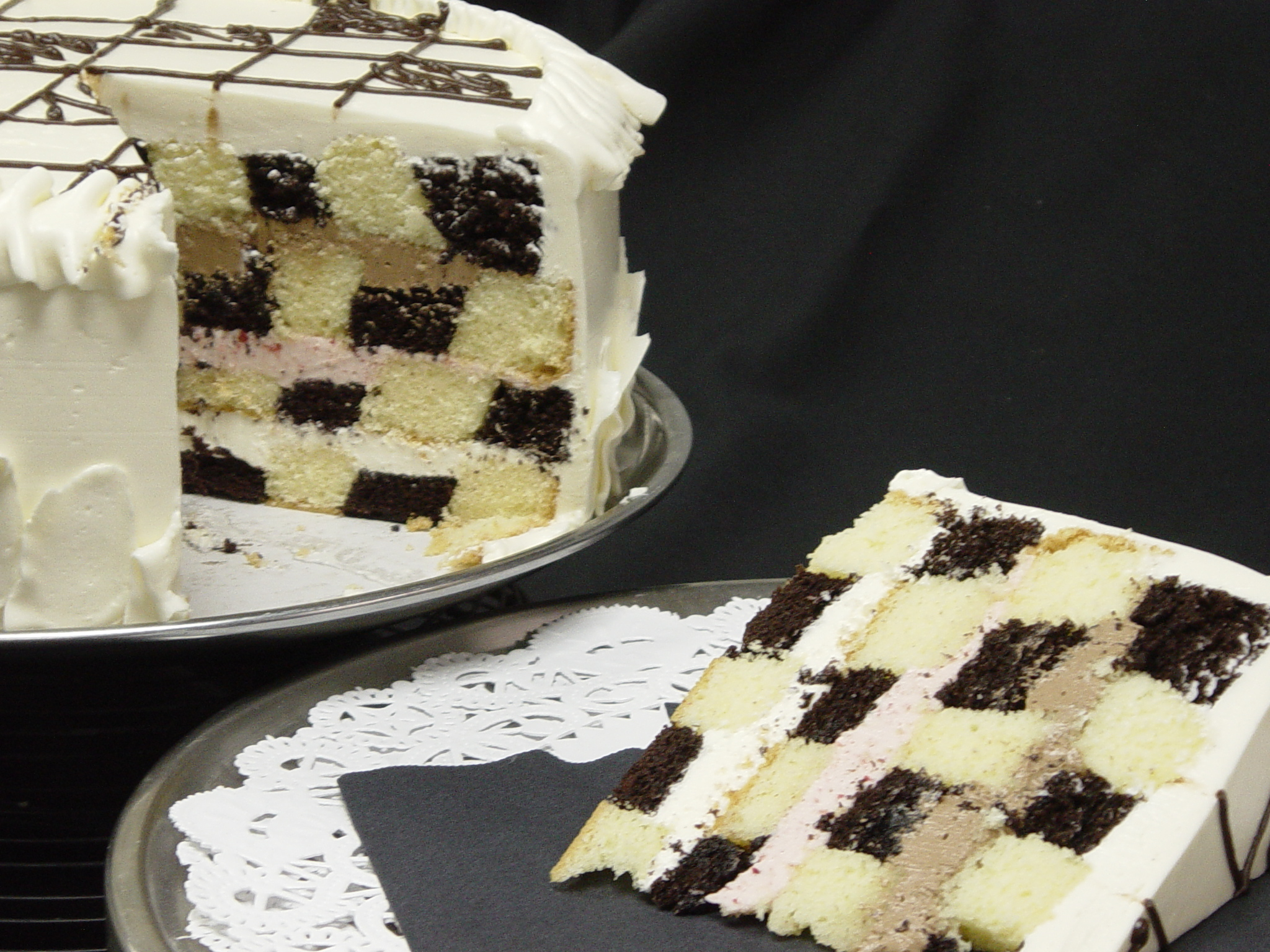 Checkerboard Cakes Decoration Ideas Little Birthday Cakes