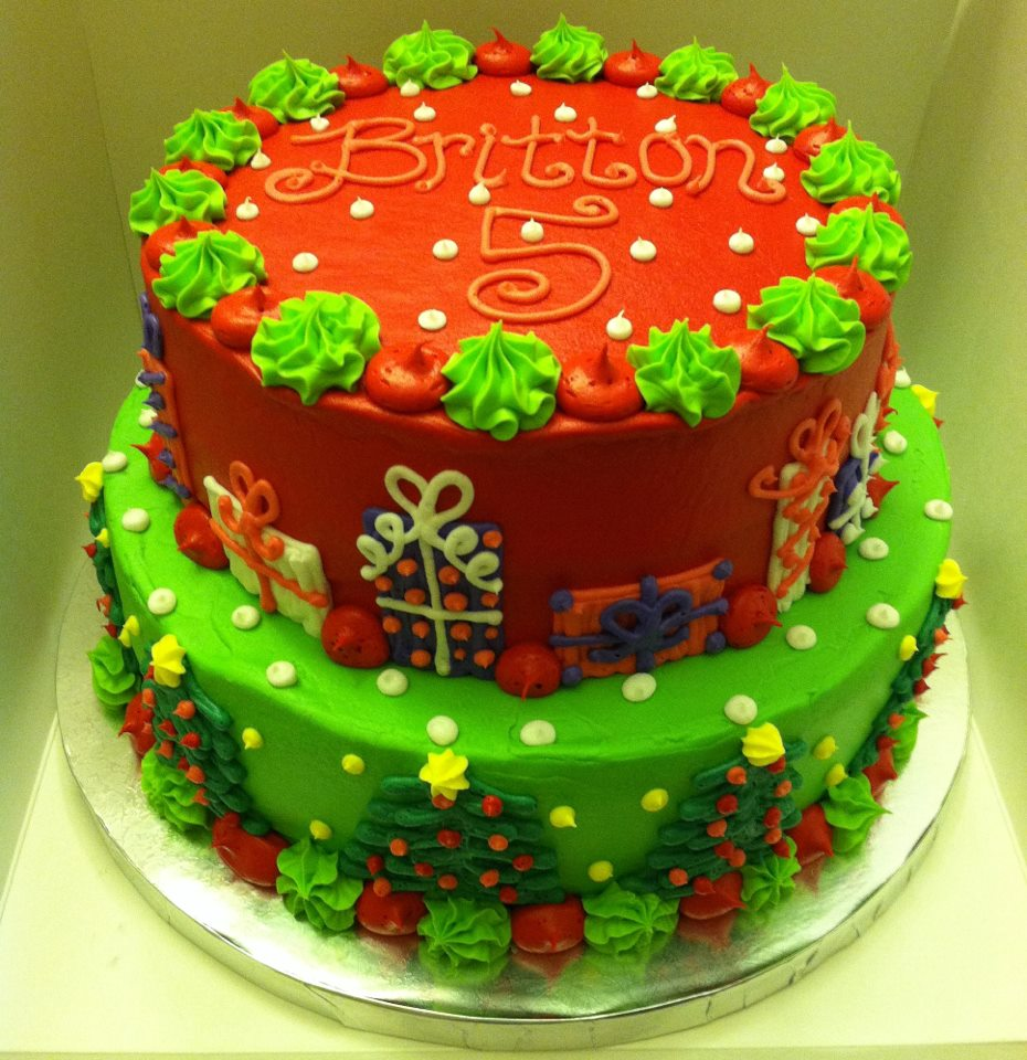 Easy Christmas Cake Decoration