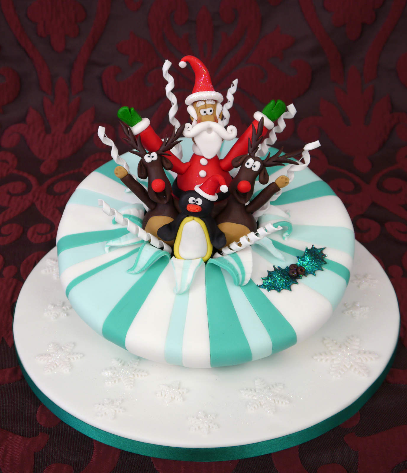 Christmas cakes decoration ideas little birthday cakes for Decoration ideas for christmas cake