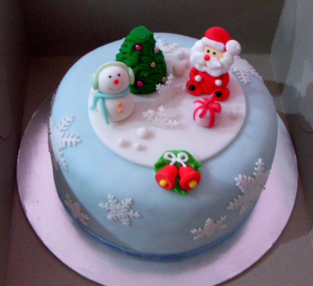 Images Of Christmas Cake Decorations : Christmas Cakes   Decoration Ideas Little Birthday Cakes